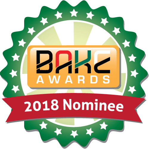 BAKE Awards 2018 - Nomination badge 500