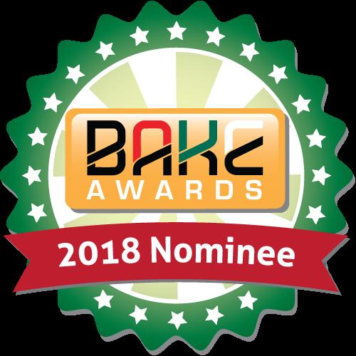 BAKE Awards 2018 - Nomination badge 500